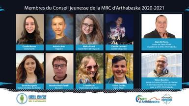 8 municipalités représentées au sein du 3e Conseil jeunesse de la MRC d'Arthabaska