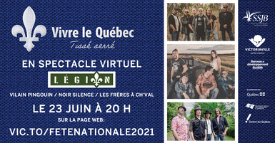 Fête nationale 2021: Les Frères à Ch'val, Vilain Pingouin et Noir Silence