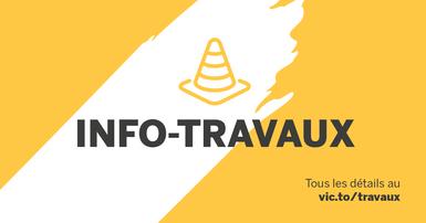 Travaux sur la rue Laurier Est du 2 au 4 août 2021