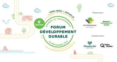Sidney Ribaux, Geneviève Fournier et Jérôme Dupras au Forum développement durable de Victoriaville
