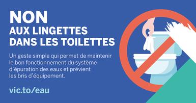 Non aux lingettes dans les toilettes!