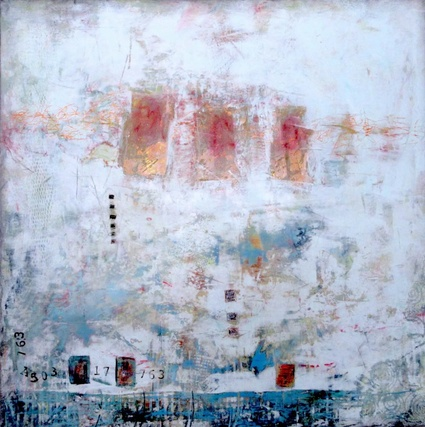 Tableau en cire froide réalisé par l'artiste Sylvie Beaudet