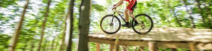Vélo-parc avec modules au Mont Arthabaska de Victoriaville
