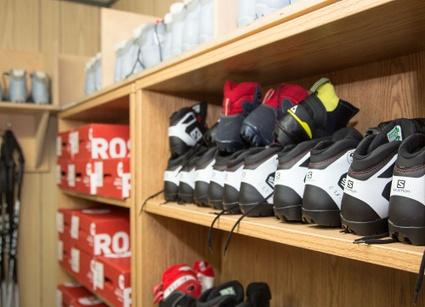 Bottes de ski de fond disponibles au centre de location du Mont Arthabaska de Victoriaville