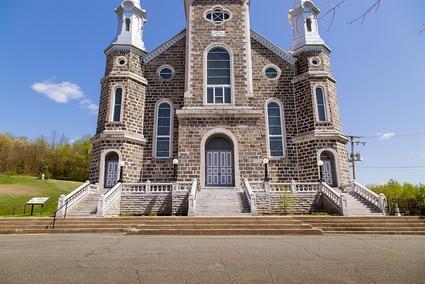 Façade de l'église Saint-Christophe, à Victoriaville