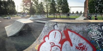 Modules au skatepark extérieur de Victoriaville