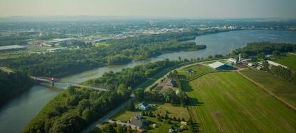 Le réservoir Beaudet de Victoriaville, du haut des airs