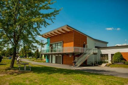 Pavillon de services du réservoir Beaudet de Victoriaville