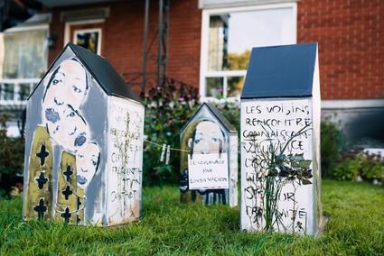 Le voisinage, une œuvre de Linda Vachon