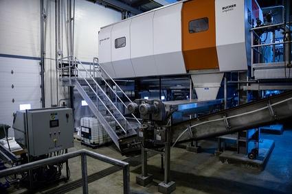 Machinerie à l'usine d'épuration des eaux usées de Victoriaville
