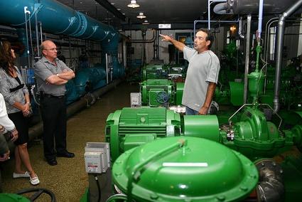 Machinerie à l'usine d'eau potable Hamel de Victoriaville