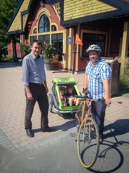 Prêt de remorques pour la course et le vélo à la Vélogare et au réservoir Beaudet