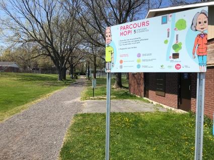 Saines habitudes de vie: un Parcours Hop au parc Mgr-Milot