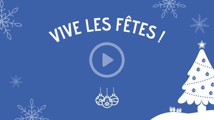 """En vidéo: L'émission spéciale de Noël """"Vive les fêtes!"""""""