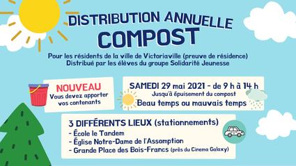 Distribution annuelle de compost à Victoriaville
