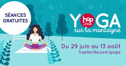 Retour des séances estivales de  yoga Hop la Ville en plein air