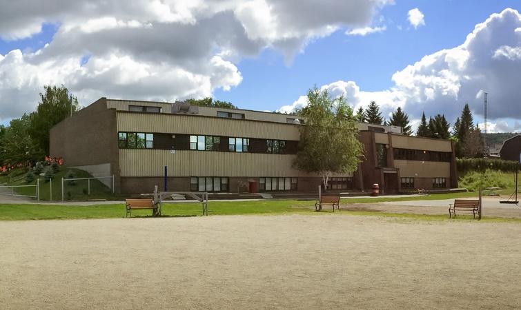 Arrière du Centre communautaire d'Arthabaska