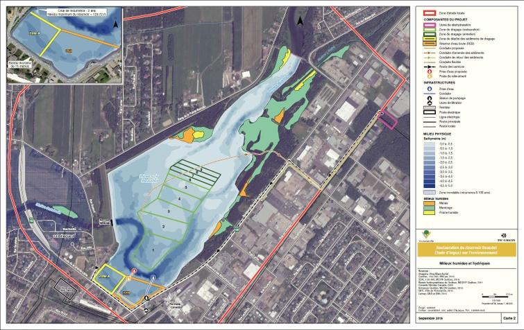Aperçu du nouvel aménagement du réservoir Beaudet de Victoriaville, APRÈS RÉVISION (carte 2)