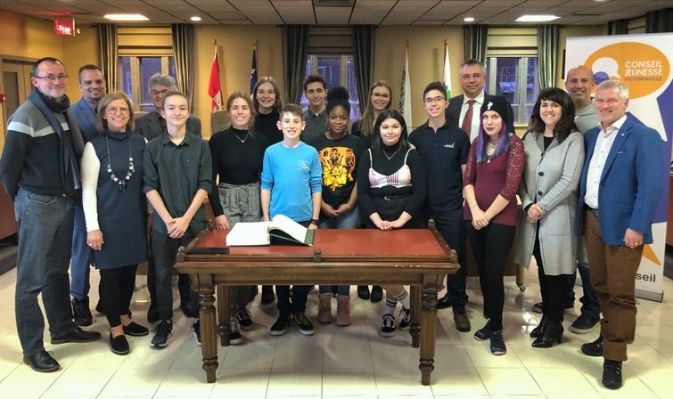 Assermentation du conseil jeunesse de Victoriaville