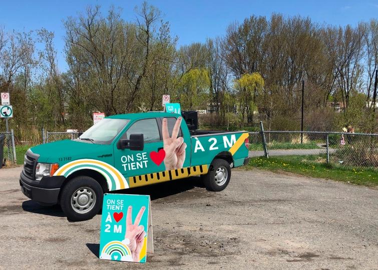Un véhicule circulera dans les lieux publics pour rappeler les consignes de santé publique en vigueur.