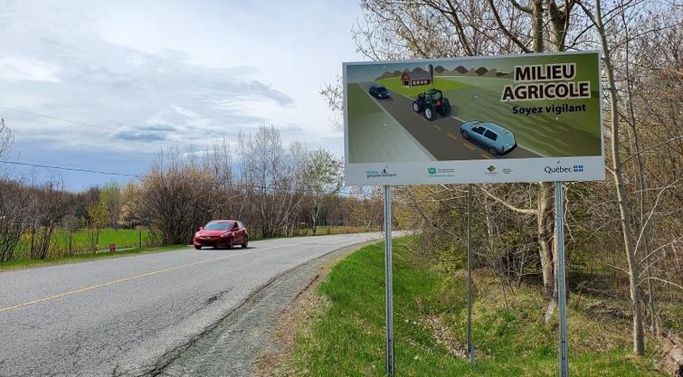 Soyez vigilant : campagne de sensibilisation au partage de la route en milieu agricole