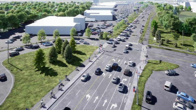 Une nouvelle piste multifonctionnelle  sur le boulevard Jutras Est