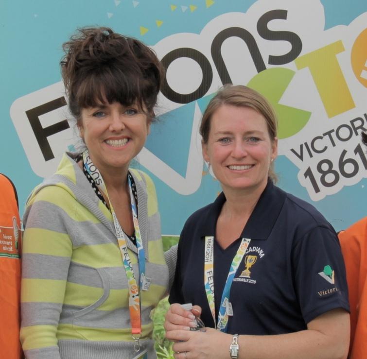 En 2011, Sophie Lambert et Caroline Pilon ont participé à la plantation de la chênaie.