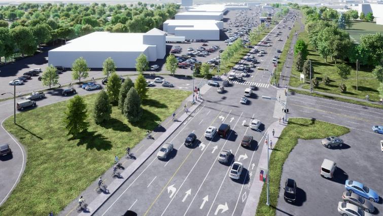 Début des travaux de la nouvelle piste multifonctionnelle sur le boulevard Jutras Est