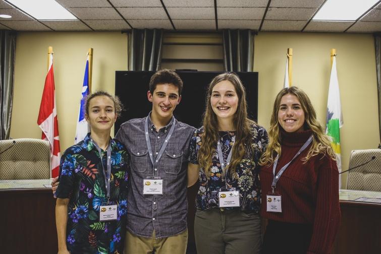 Quelques membres du Conseil jeunesse 2019-2021 (photo prise avant la pandémie)