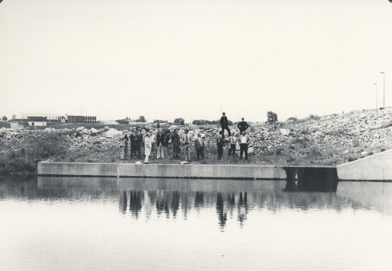 Personnes sur le site du futur réservoir Beaudet (archives)