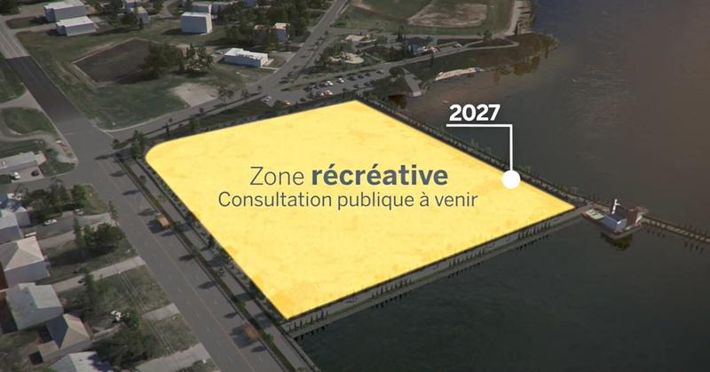 Aperçu de la future zone récréative du réservoir Beaudet de Victoriaville