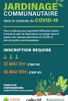 Formation sur le jardinage communautaire en contexte de COVID-19