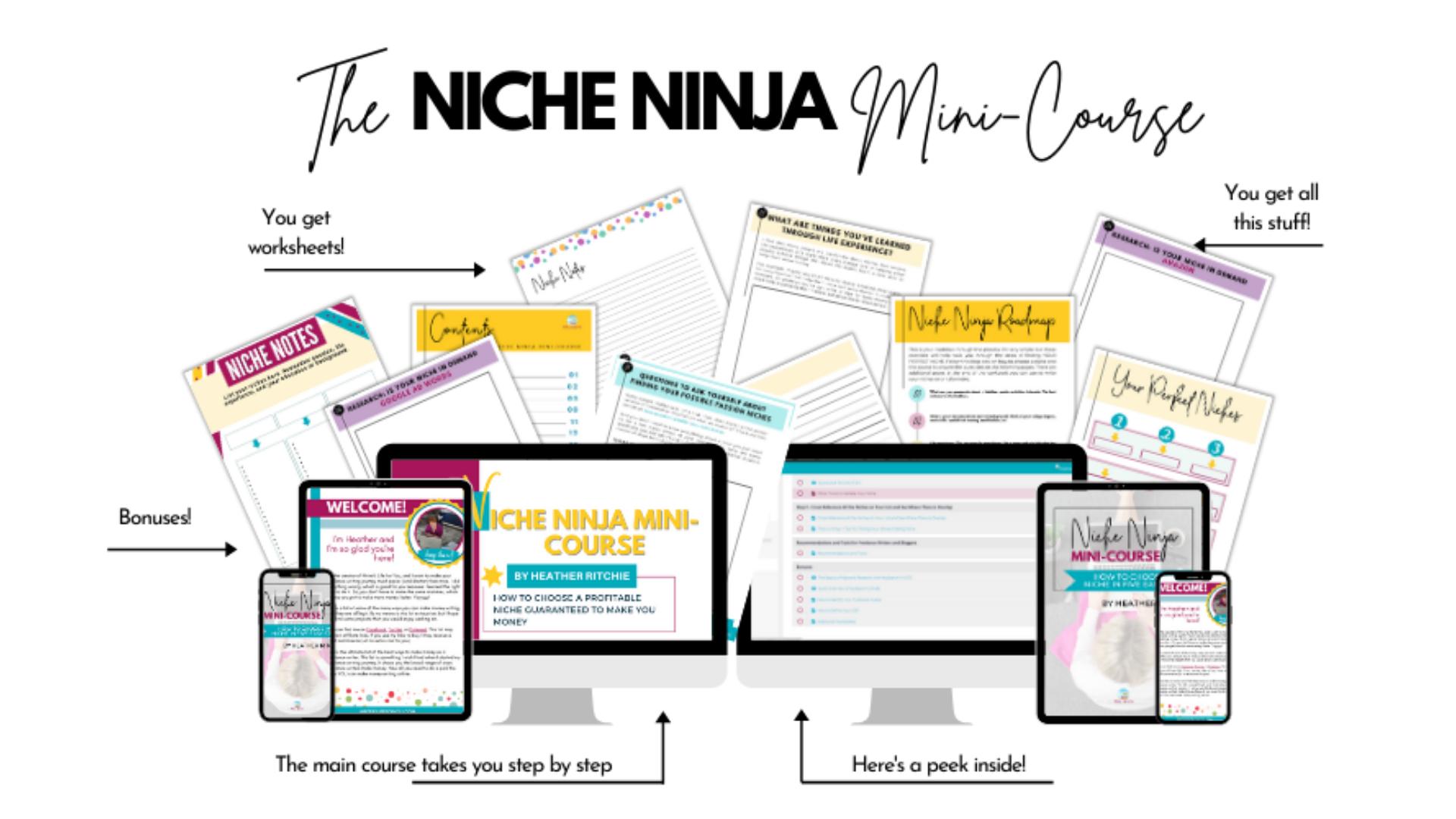 Niche Ninja Mini-Course workbook and course