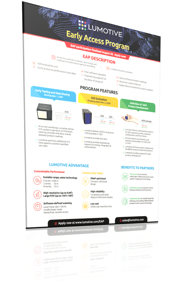 "Download ""Early Access Program"" brochure"