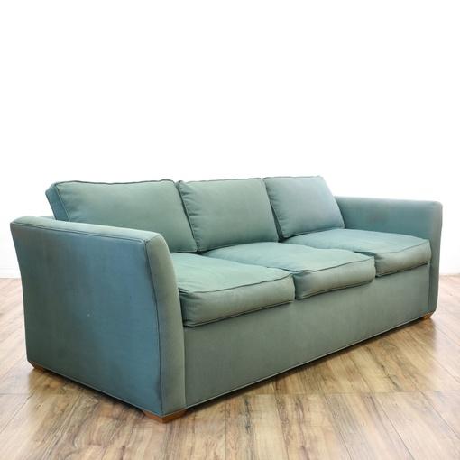 Contemporary Blue Sleeper Sofa Bed