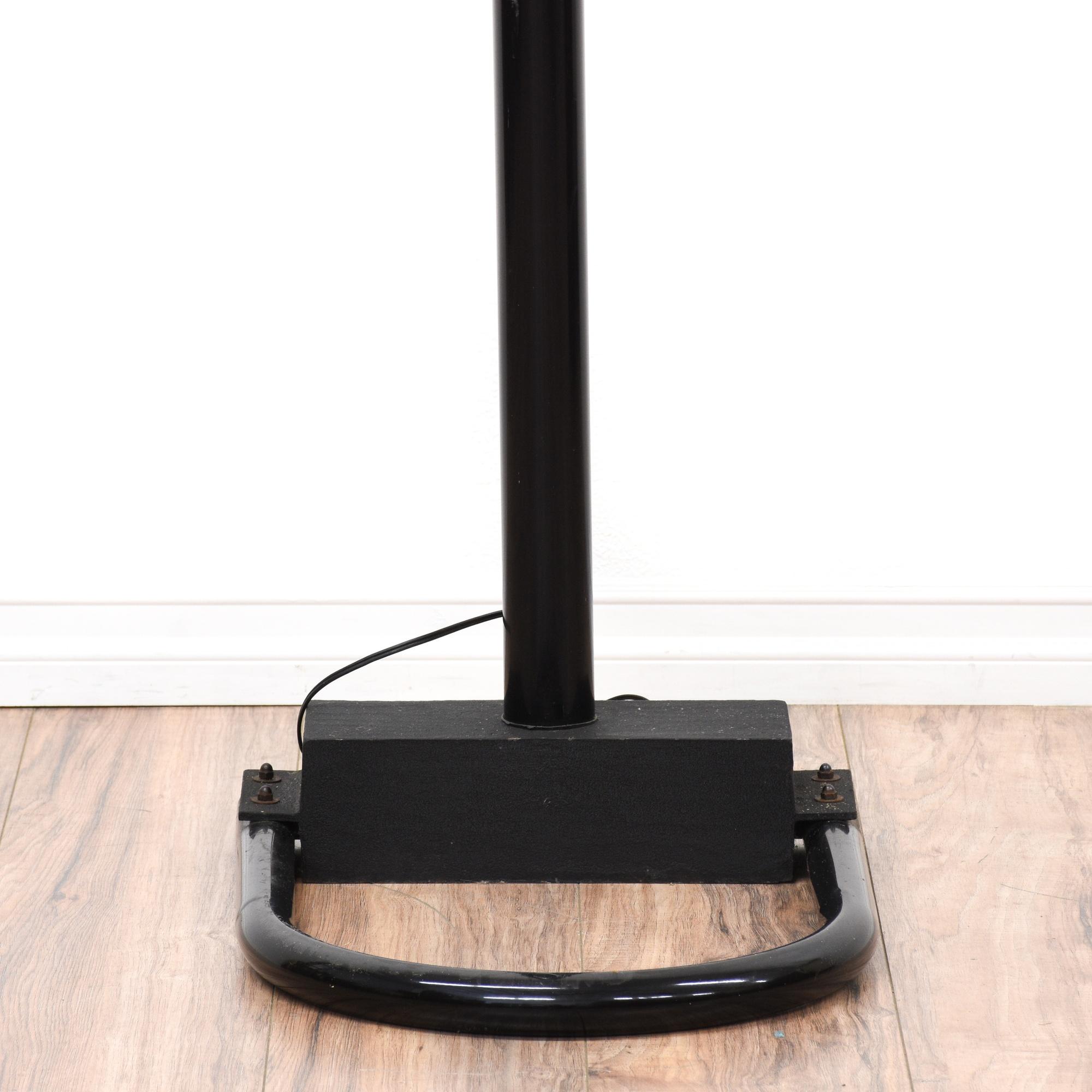 mid century modern black arc floor lamp loveseat vintage furniture san diego los angeles. Black Bedroom Furniture Sets. Home Design Ideas