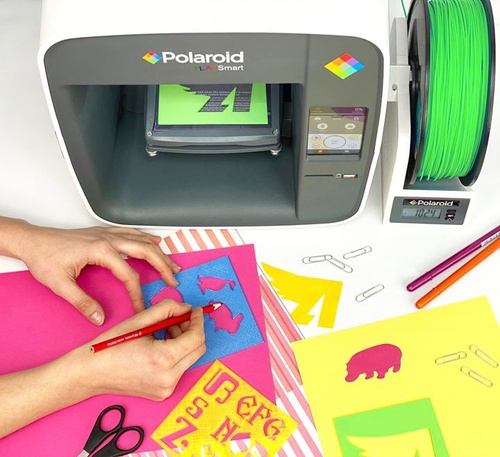 Next level scrapbooking 🌟 Letter and animal stencils created with the Polaroid PlaySmart 3D Printer for #NationalCraftMonth. https://www.polaroid.com/products/playsmart-3d-printer