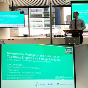 RT @LSIA_ACU: Wonderful Brown Bag Series seminar today from visiting PhD candidate Kim-Daniel Vattøy (@kimdanielvattoy) of @HiVolda to present his research on 'Responsive Pedagogy & Feedback in Teaching English as a Foreign Language' #ILSTEinacti