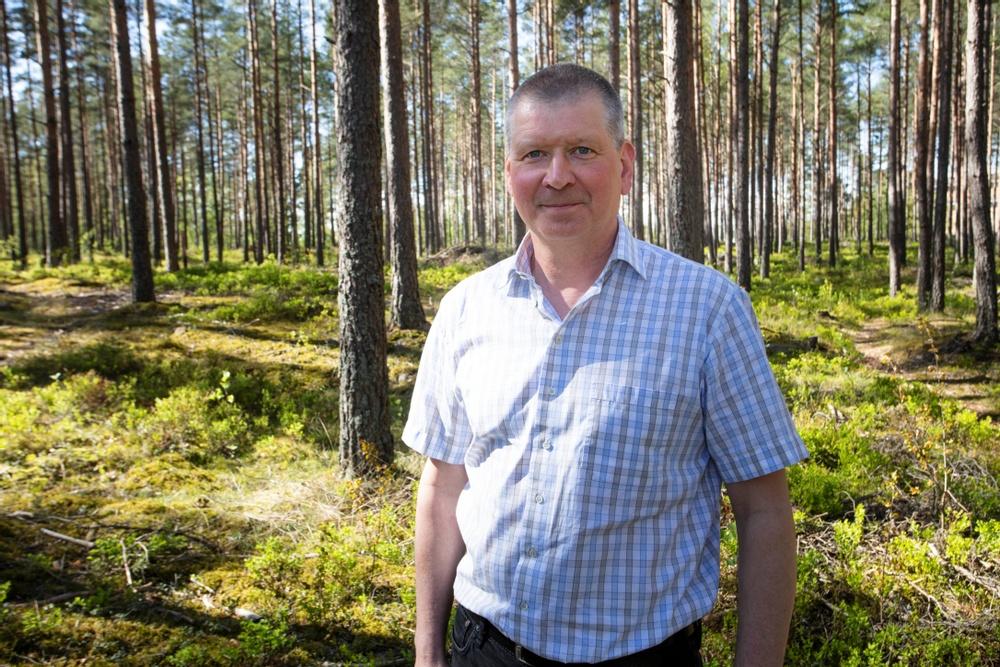 Lars Atterfors är en av grundarna till CC100 som vill effektivisera byggprocesser med sina lågenergiväggar i trä. Högupplöst foto för tryck. Foto: Paper Province