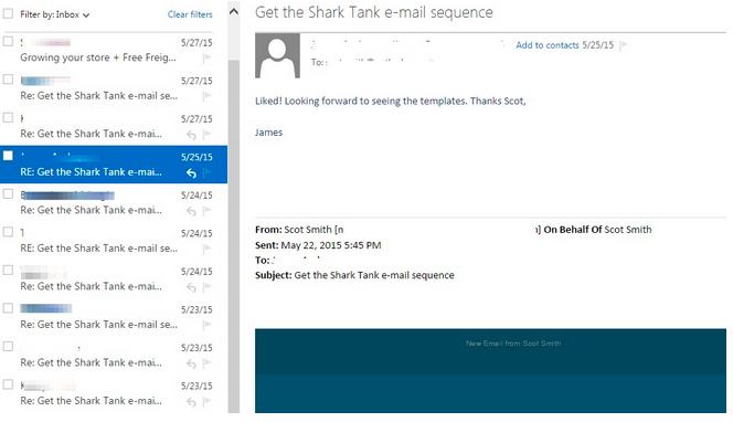 shark tank email autoresponder comments