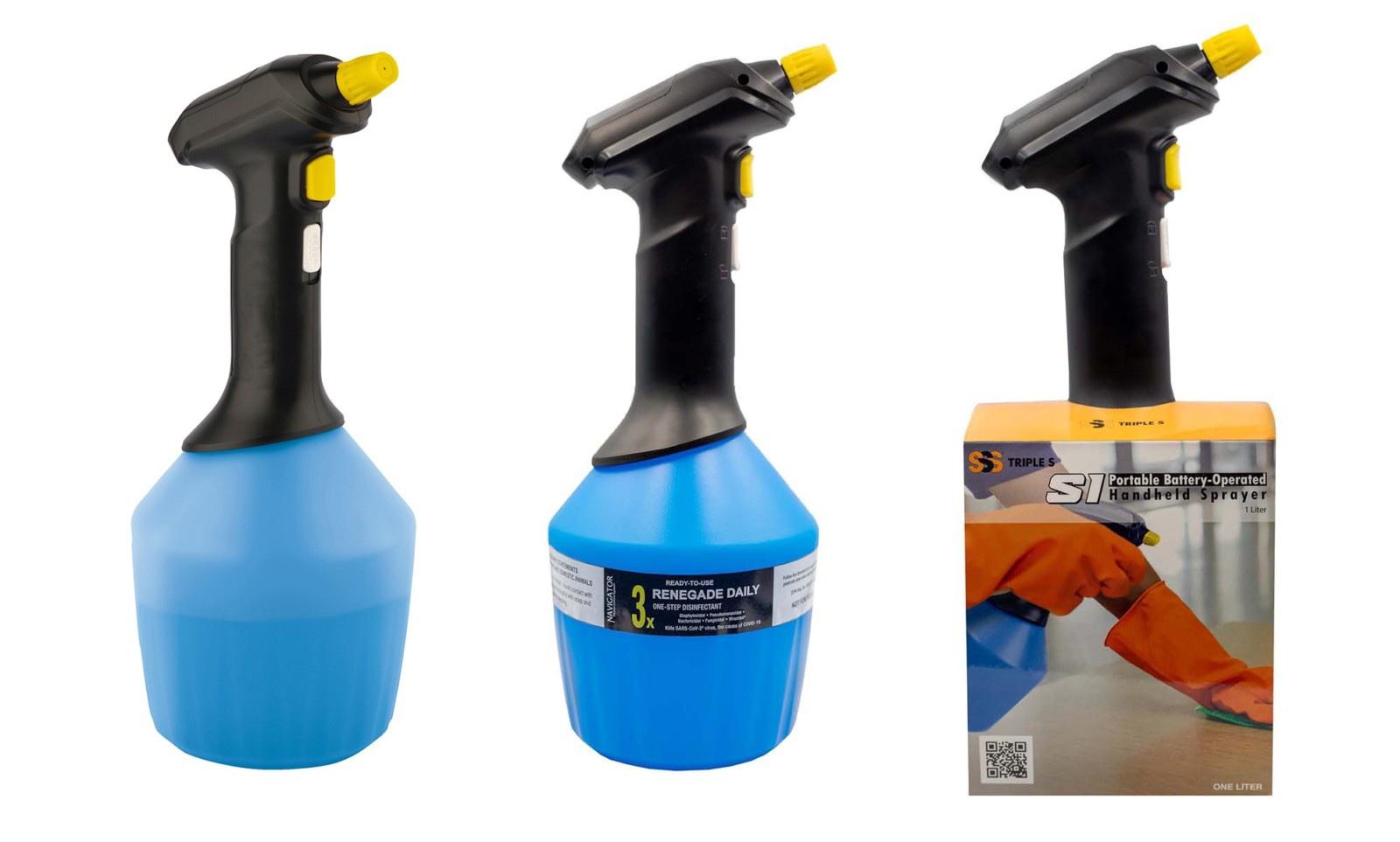 Triple-S   Portable Battery Powered Handheld Sprayer