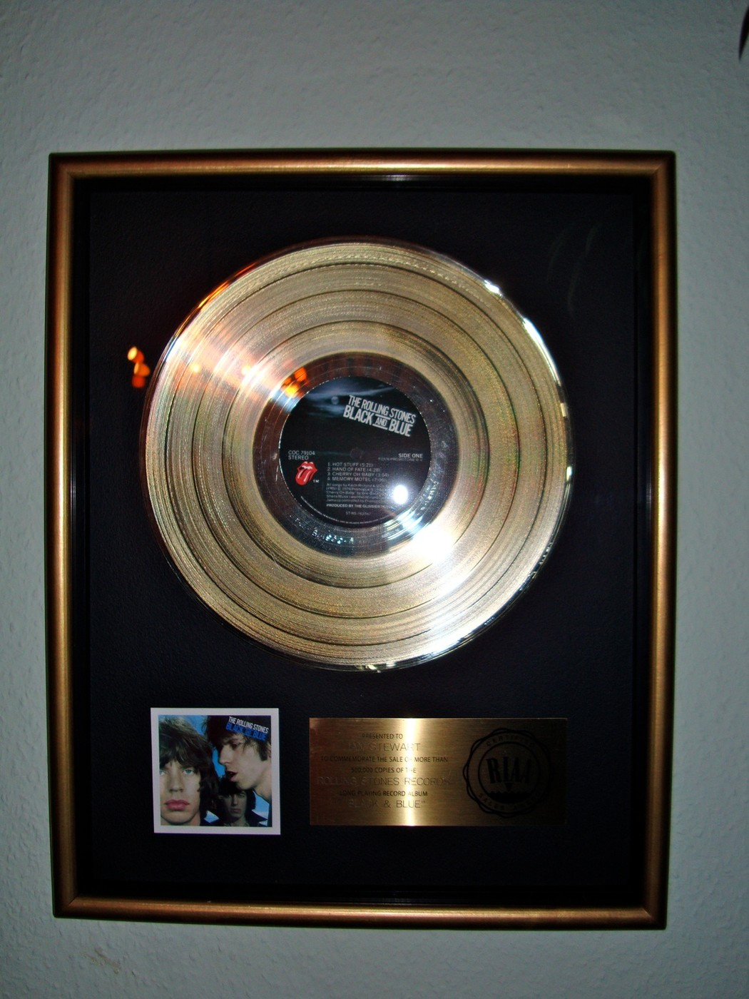 Rolling Stones RIAA Award for