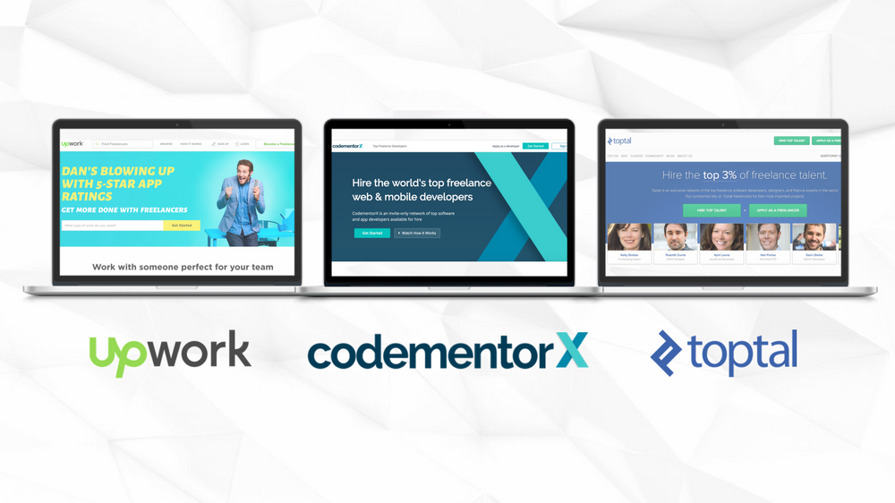 Toptal vs. Upwork vs. CodementorX: Popular Freelance Websites Comparison