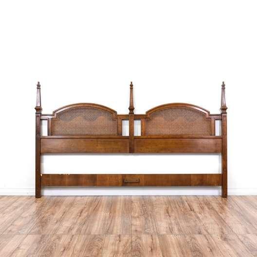 Walnut Cane Panel King Sized Headboard