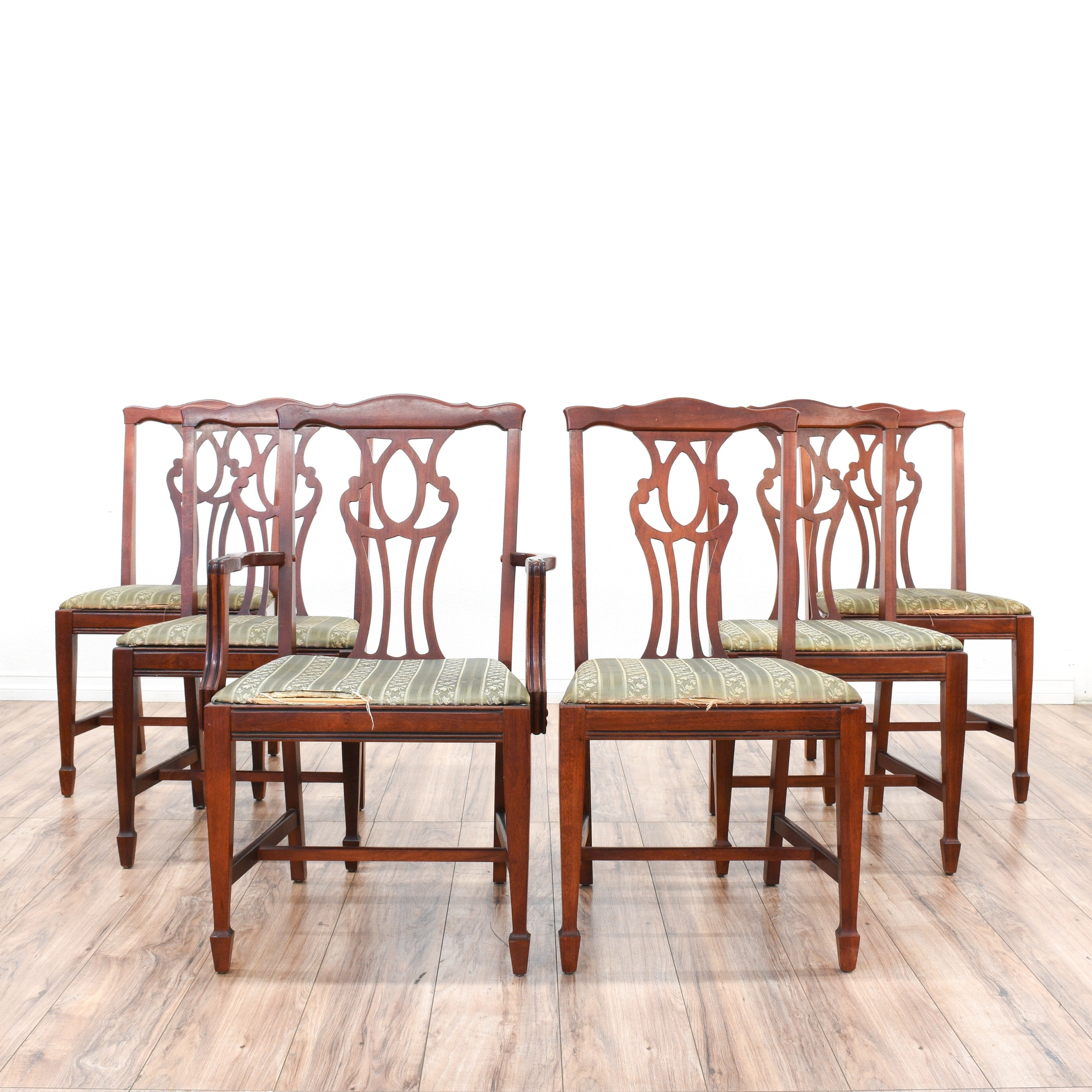 Set of 6 Duncan Phyfe Sheraton Style Dining Chairs
