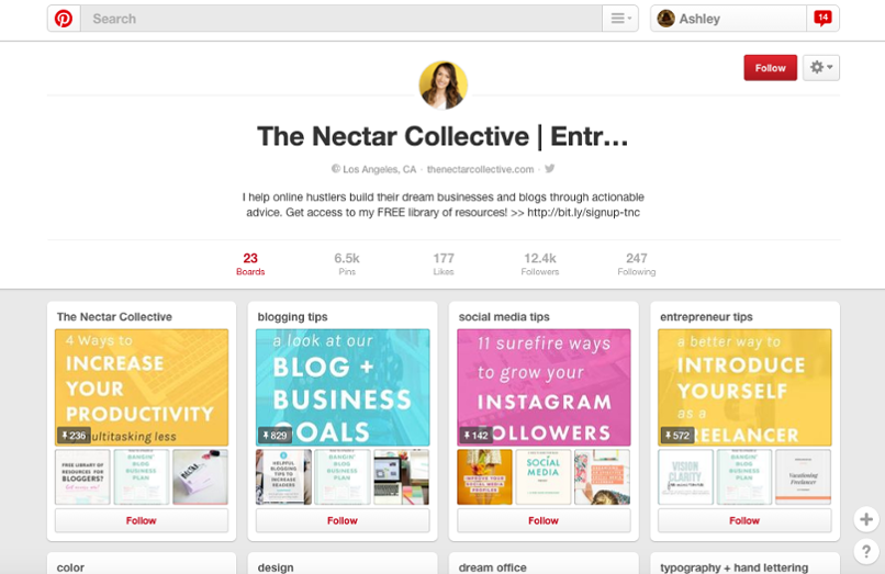 Melyssa Griffin, The Nectar Collective Pinterest board