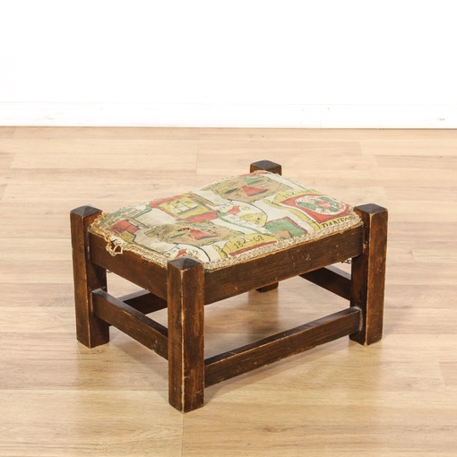 Antique Mission Style Footstool