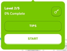 Image: Duolingo Lightbulb is Replaced by a TIPS Button - Tips and Notes