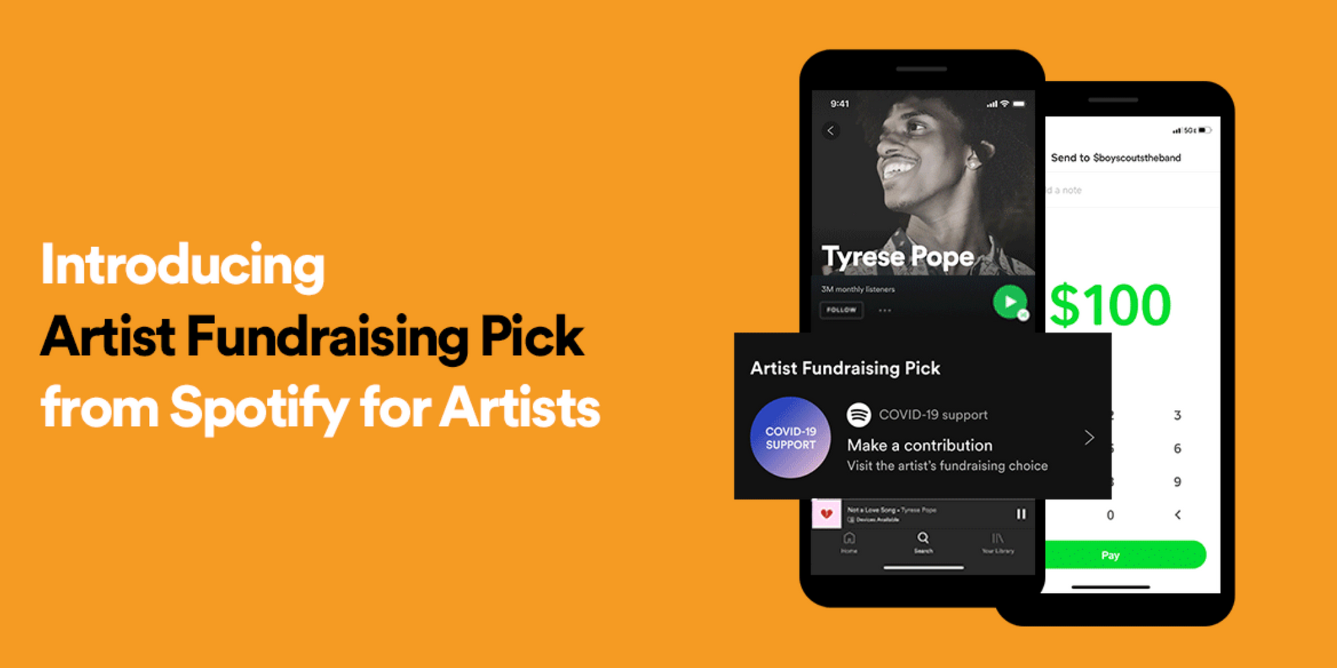 Artists can now fundraise directly from fans with Spotify's new feature, Artist Fundraising Pick