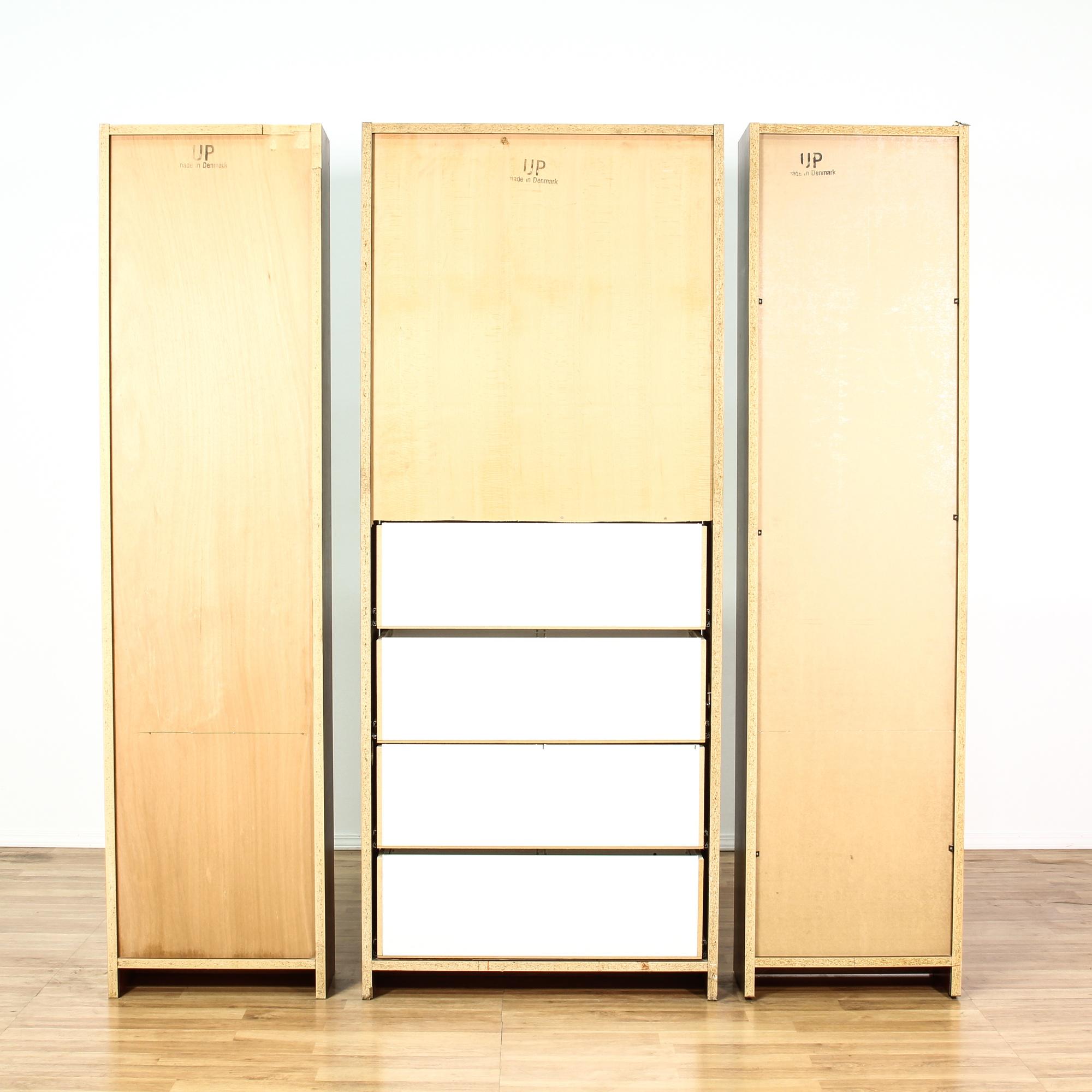 Danish modern 3 piece wall unit display bookcase - Modern bookshelf wall unit ...